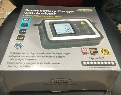 New Ring RSC612 12 Amp Smart Car Battery Charger - Suitable For Stop / Start