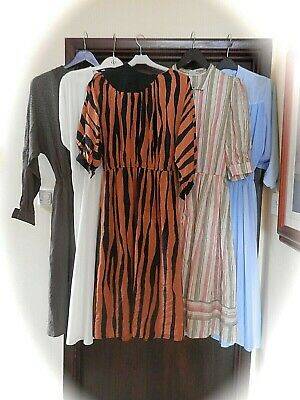job lot vintage dresses x 5 70s and 80s new wave punk and disco