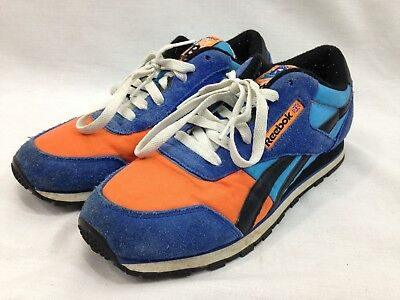 Reebok Classic Sneakers Shoes Mens 6 Rolland Berry Blue Orange Low Top Lace  Up 49a904d39
