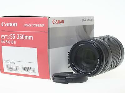 Canon EF-S 55-250mm F/4-5.6 II IS  lens caps boxed fine condition