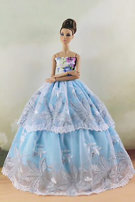 Fashion Princess Party Dress/Evening Clothes/Gown For 11.5 inch Doll a05