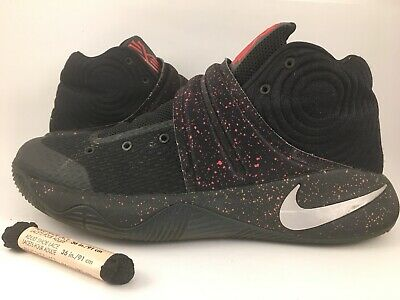 buy popular 8ac3f 2104f Nike Kyrie 2 Black Red Speckle 819583-006 Mens Basketball Shoes Size 9