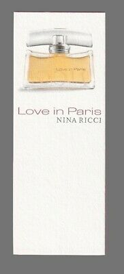Carte publicitaire - advertising card - Love in Paris de Nina Ricci