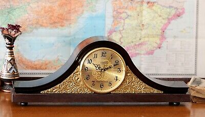 Wooden Table Clock Antique Woodcraf Mantel Clock Old Fashioned Table Clock Vesna