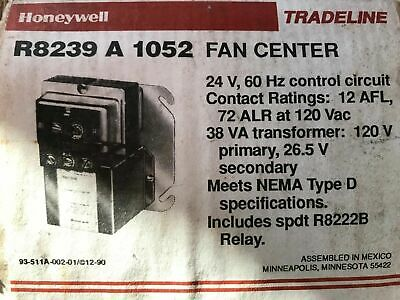 HONEYWELL R8239 A 1052 Fan Center - $40.00 | PicClick on