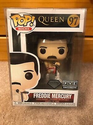 Funko Pop Rocks Queen: Freddie Mercury #97. Fye Glitter Exclusive W/ Protector