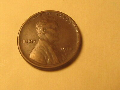 1914 S  Lincoln Wheat Cent Penny in VF+ Very Fine+ Condition