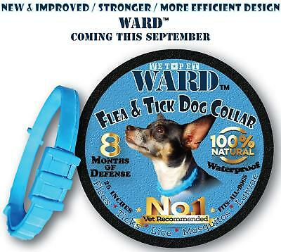 Natural Hypoallergenic Flea & Tick Control Collar For Dogs 8 MONTHS OF DEFENSE