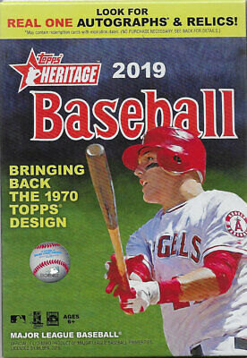 2019 Topps Heritage Baseball Sealed 35 Card HANGER Box Possible Autos Jerseys