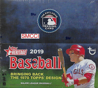 2019 Topps HERITAGE Baseball Series Factory Sealed Retail Box 24 Packs 216 Cards