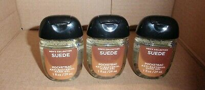 Bath And Body Works Men's Anti-Bacterial Pocketbac Suede X3 Brand New