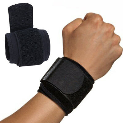 1 Pair Adjustable Compression Wrist Strap Brace Wrap Support for Exercise Gym