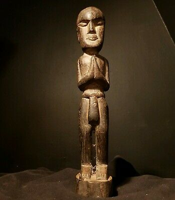 Alak People Of Southern Laos House Statue. Carved Tribal Art