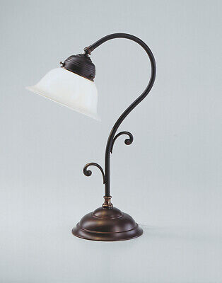 Beautiful Table Desk Lamp Made from Antique Brass Light Berliner Messinglampen