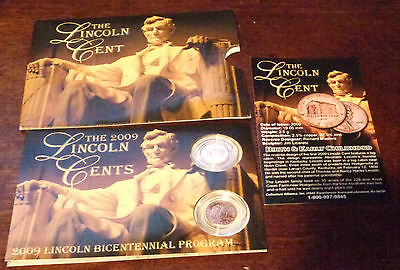 2009 Uncirculated  Abraham Lincoln Bicentennial Pennies Issue 1 Birth