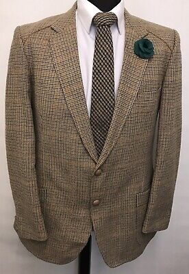 Ms3092 Vtg Hardy Amies At Hepworths Men's Brown Tweed Blazer  Size  42 Uk