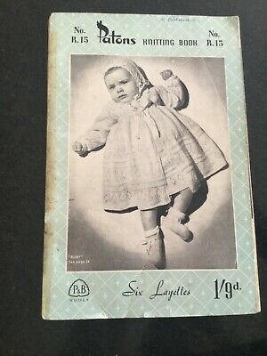 patons r15 Baby layettes shawls knitting Patterns book