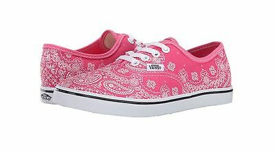 21cb982f71f New Vans Authentic Lo Pro Bandana Little Kids Youth Pink White Shoes Sz 1.5  kids
