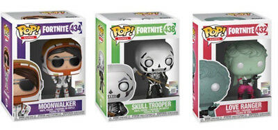 FORTNITE POP! Funko - 3 FIGURES : MOONWALKER,SKULL TROOPER & LOVE RANGER New !!!