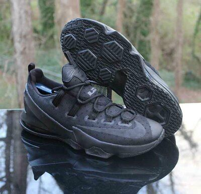 3d2af9bc2ed Nike LeBron XIII 13 Low Basketball Shoes Black Out 831925-001 Men s Size  10.5
