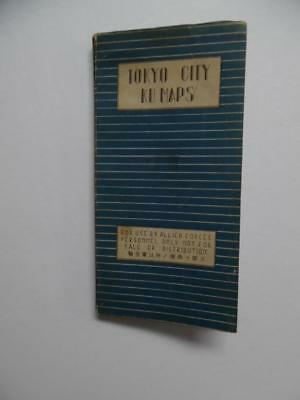 1946 Tokyo City Ku Maps City Atlas for Allied Forces Occupied Japan Bombed Areas