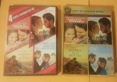 A Walk To Remember/the Lucky One/message In A Bottle/nights In Rodanthe Dvd Vgc