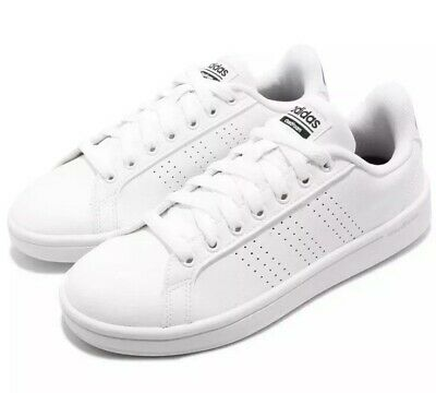 more photos 2955b af600 New Adidas CF ADVANTAGE CL Tennis White Black Leather Womens 10 Sneakers  AW4323