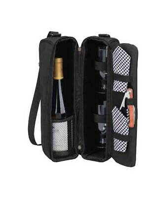 London Sunset Wine Carrier for Two in Black [ID 41567]