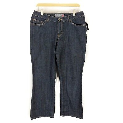 a803a7f9c13 Venezia Lane Bryant Stretch Bootcut Dark Wash Jeans Women s Size 1 Petite  NEW