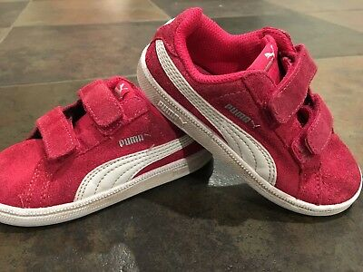 PUMA SUEDE CLASSIC Kids PINK WHITE TODDLER US SZ 6 Toddler Girl ... 0513d8015