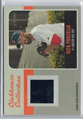 2019 Topps Heritage Clubhouse Collection Relics #CCRRP Rick Porcello