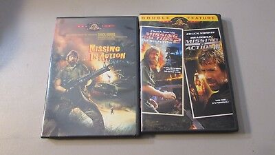 Chuck Norris DVD's Missing in Action 1,2 & 3