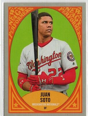 2019 Topps Heritage New Age Performers #NAP15 Juan Soto