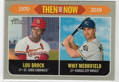 2019 Topps Heritage Then and Now #TN11 Lou Brock/Whit Merrifield