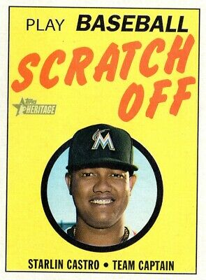 2019 Topps Heritage '70 Topps Scratch Offs #14 Starlin Castro