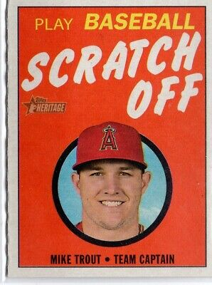 2019 Topps Heritage '70 Topps Scratch Offs #1 Mike Trout
