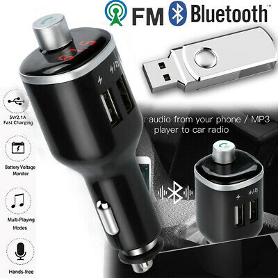 FM Transmitter Bluetooth Car Wireless Hands Free Kit Radio Adapter USB Charger