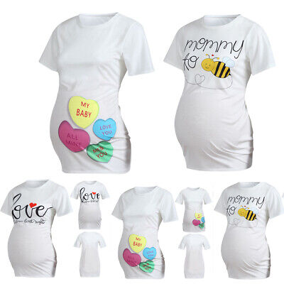 a418b7566 MATERNITY MY BABY Loves Cheese Funny Announce Pregnancy Baby Bump T ...