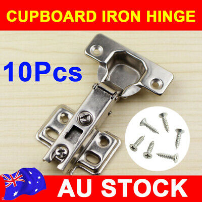 10/20X Door Hinge Cabinet Cupboard Hinges Full Overlay Wardrobe Kitchen