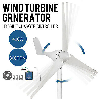 DC 12V 400W Wind Turbine Generator Kit  Charger Controller Home Power Brand New