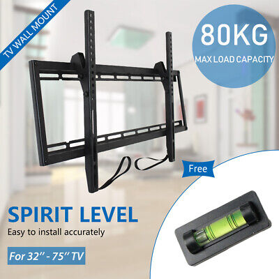 "TV Wall Mount Bracket Stand LCD LED PLASMA Flat Universal Tilt Slim 32""-75"" Inch"