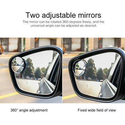Blind Spot Mirror x 1 Rimless HD Glass Wide Angle 360° Convex Mirrors Rear View