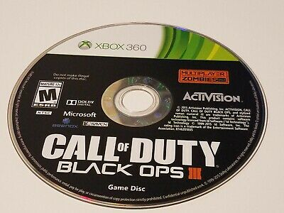 Call of Duty: Black Ops III (Microsoft Xbox 360, 2015) GAME DISC ONLY