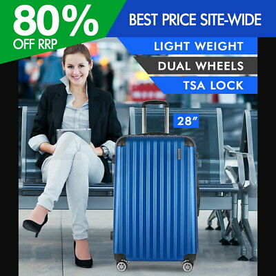 "Wanderlite 28"" Luggage Suitcase Blue TSA Travel Hard Case Lightweight"