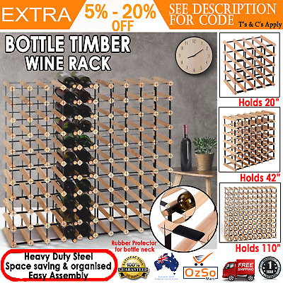 Artiss Bottle Timber Wine Rack