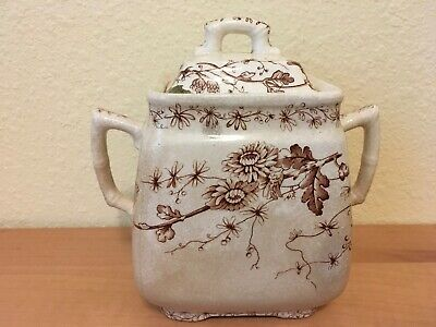 W. H. Grindley & Co. Ironstone China Sugar Bowl - Spring Pattern