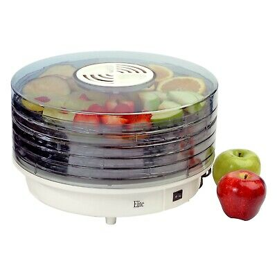 Elite Gourmet EFD-1010 Stackable Removable 5-Tray Rotating Dehydrator