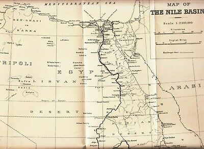"""Egypt - Sudan 1915 Map Of """" The Nile Basin """" By The Survey Of Egypt"""