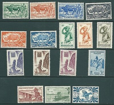 FRENCH COLONIES unmounted mint stamp collection MNH