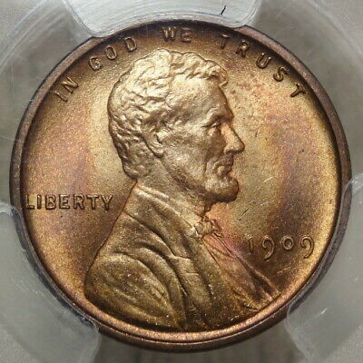 1909 VDB Lincoln Cent, Gem Uncirculated PCGS MS-66RB, Great Color!